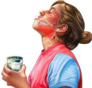 Приготовление солевого раствора для полоскания горла