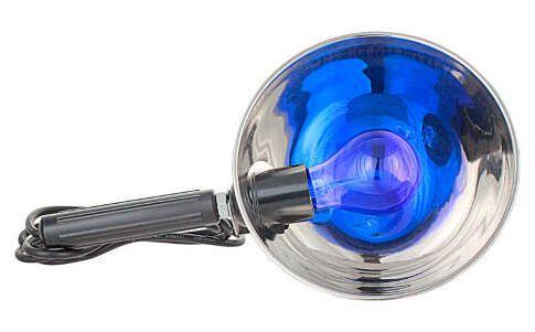 Синяя лампа для прогревания носа и ушей